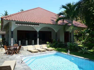 Photo for Large private villa with nice swimming pool in tropical garden