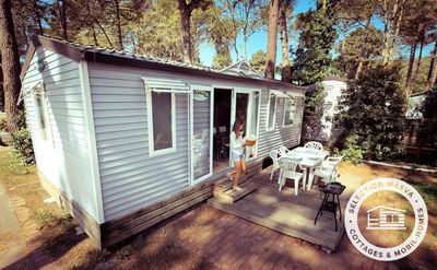 Photo for Camping Club Taxo Les Pins **** - Maeva Camping - Mobil Home Comfort 4 Rooms 6 Persons Air-conditioned