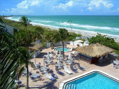 Pristine Boca Grande Club gives you a choice of Gulf of Mexico or pool to relax~