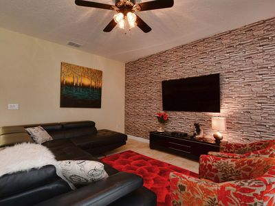 Photo for Luxurious!  5 min to Disney! South facing pool/Gameroom/Baby Gear