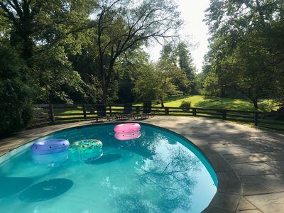 The Mill House pool, looking towards Pantherskin Creek