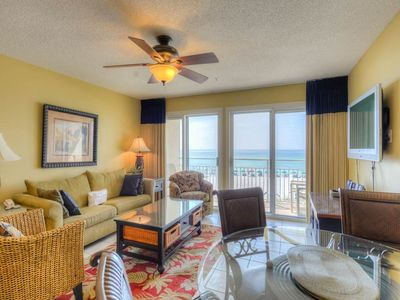 Photo for Wonderful Condo! Gulf Front, Sleeps 6, Complimentary Beach Equipment, Nearby Shops and Dining!