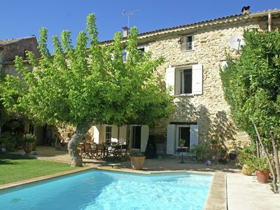 Photo for Provençale Mas (18th century) with enclosed garden with private swimming pool