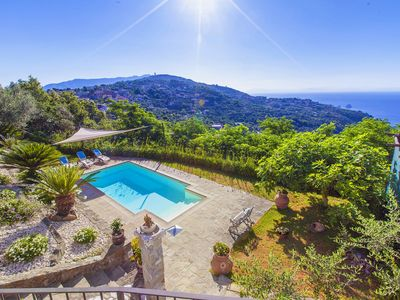 Photo for Villa dei Galli with Private Pool, Sea View, Garden, Parking and Air Conditioning
