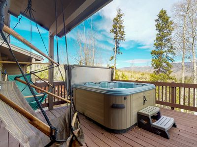 Photo for NEW LISTING! Townhome w/ private balcony, hot tub & mountain views