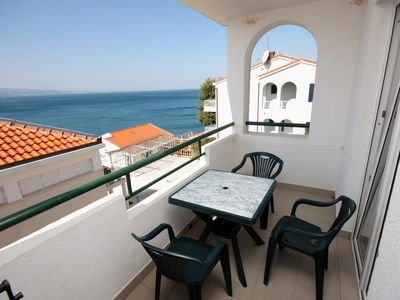 Photo for Studio flat with terrace and sea view Balića Rat, Omiš (AS-4868-f)
