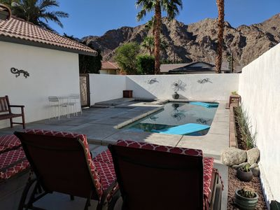 Photo for Beautiful open concept home with mountain views, pool, spa and cozy backyard