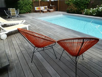 Photo for Bruges Near Bordeaux: Great house with garden and pool