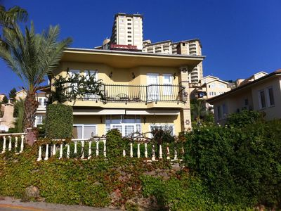 Photo for GoldCity5 star Complex 3 Bed Villa adjacent to large shared pool. Sea views.
