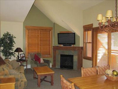 Relax in our spacious family room while playing games or watching TV