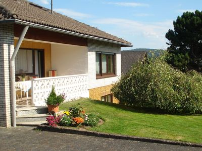 Photo for Apartment in the Westerwald with large garden and terrace with barbecue area