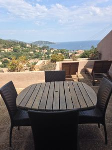 Photo for Exceptional sea view. House 40m2 with large terrace .St Clair / La Fossette