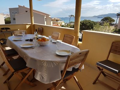 Photo for Apartment furnished luxury of 100m ² facing the bay of Calvi