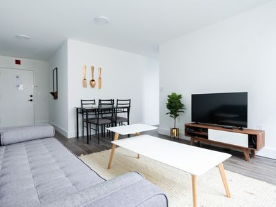 Photo for Bright 1BR on Garden St. 5min to PATH train