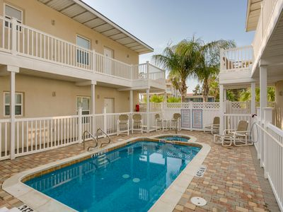 Photo for Bright condo near beach with a shared pool, hot tub, and a prime location!