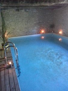 Photo for Stone house with indoor pool, Sauna and Hammam in medieval village