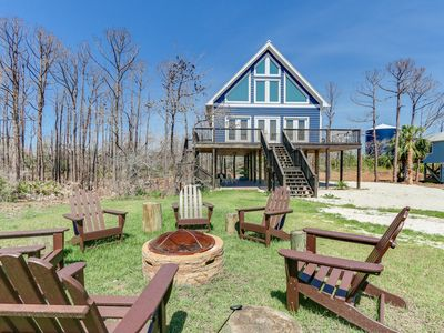 Photo for Rustic Beach Rental | First tier with views of the St. Joe Bay Emerald Waters| Fall Rates Reduced!