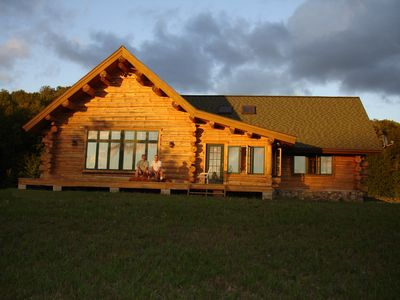 Photo for Bellaire Overlook Log Home on private 80 Acres of rolling woods