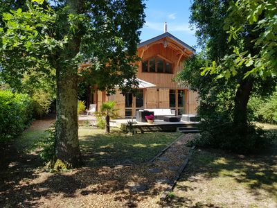 Photo for PROMO! -10% SEPTEMBER! TYPICAL WOOD VILLA IN THE BASIN FOR 6 PEOPLE