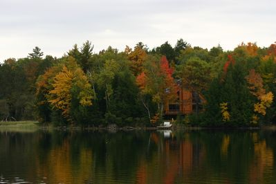 From the 781 acre lake with boatable access to more than 16,000 acres of water.