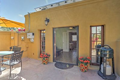 You'll be able to savor the abundant Arizona sunshine on the private patio.