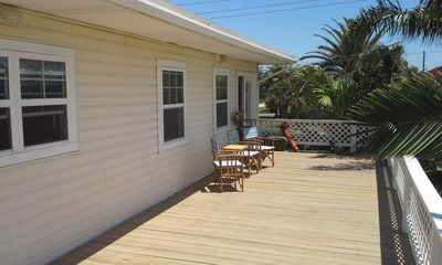 Spacious South Facing Deck with Waterview