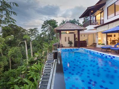 Photo for Breathtaking View in Ubud Tranquil 3BR Luxury Villa