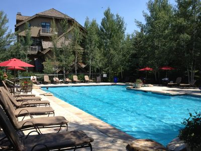 Photo for 7+ BR Upscale Home, Sleep 25, Shuttle, Pool, HotTub, Pool Table, Huge Deck, View