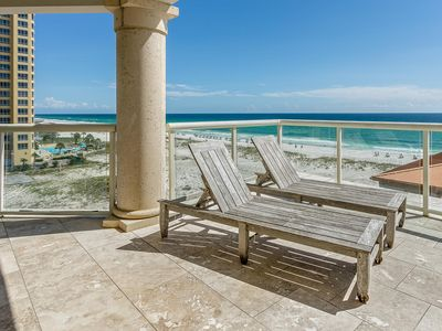 Photo for Spectacular Views, Spacious Balconies, FREE Beach Chairs+Umbrella, Heated Pools