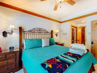 Photo for Second-floor family suite with shared pool & hot tub just steps from ski lifts!