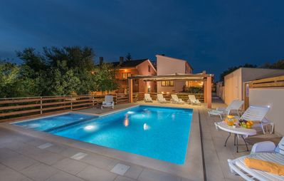Photo for Apartment Matteo with outdoor pool, Wi-Fi, air conditioning and nice barbecue area
