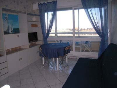 Photo for 2 room apartment - harbor and sea view - close to the landing beaches.