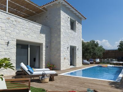 Photo for Villa Prima-4bedroom villa, 3 bathrooms, heated pool & jacuzzi with sea view!