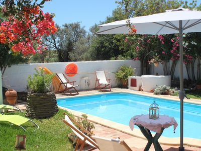 Photo for Garden and private swiming pool, also WIFI! 12m walk to the beach! Peacefull!