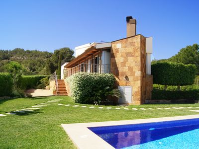 Photo for Beautifully designed modern villa, recently built with high quality finishings a