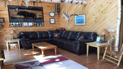 Photo for Cabin, 3 Bedrooms + Loft, 2 Baths, Sleeps 7-10, Formerly Covert's Moose Lodge