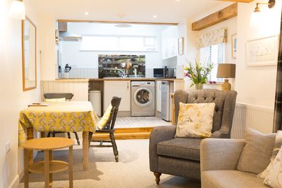 Cosy, contemporary, Cumbrian country cottage, open plan living perfect for two.