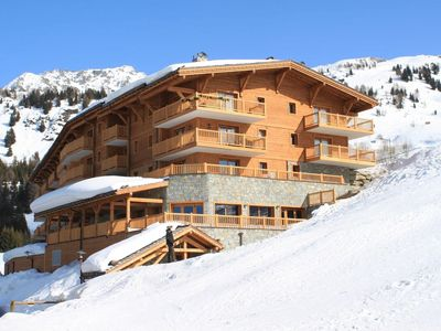 Photo for Arc 1800 Iseran, heated swimming pool, ski-in ski-out, covered parking, large balcony