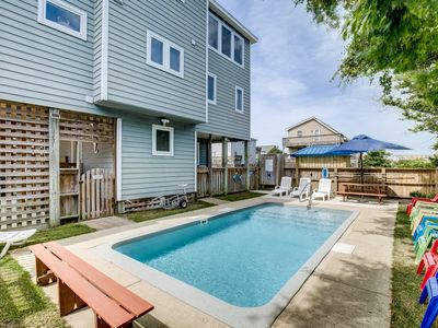 Photo for A Wrighteous Time   1639 ft from the beach   Private Pool, Hot Tub
