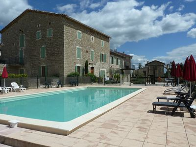 Photo for Large apartment in 19th century village house with shared pool , WiFi & Sat TV
