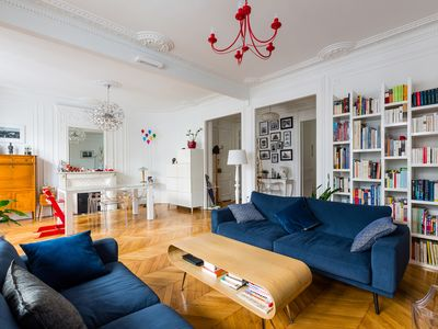 Photo for Elegant 3BR apartment with balcony footsteps away from the Tour Eiffel, by Veeve