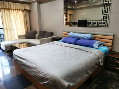 Photo for Walking Street 650M away 40sqm Big Nice condo with Pool
