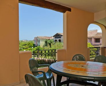 Photo for Bright apartment in the village The village of Porto San Paolo