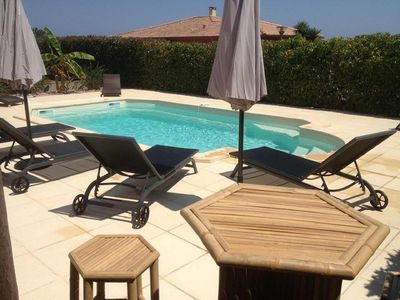 Photo for Fantastic holiday home with pool, up to 10 people, sandy beach 700m