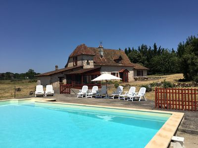 Photo for Cozy farmhouse with 5 bedrooms, private pool, great views in the Midi-Pyrenees