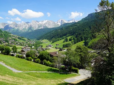 Photo for Le Grand Bornand  Studio flat in chalet expo. south view on chaîne des Ararvis