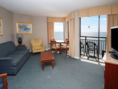 Photo for Patricia Grand 1810,  Beautiful 1 Bedroom Condo with Ocean Front Views, Indoor Outdoor Pool, Hot Tub, Lazy River and Kiddie Pool