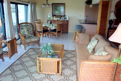 Spacious and open living areas.