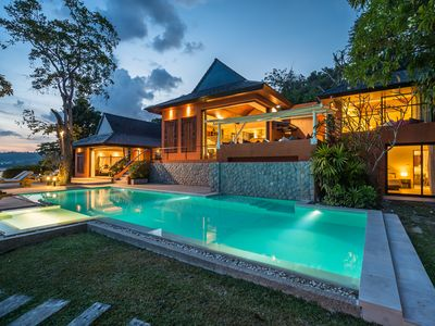 Photo for Oceanfront private pool villa with maid and cook