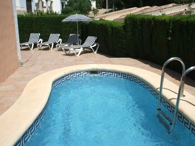 Photo for Villa with private pool no car necessary 250mt to beach 450mt to town.